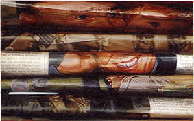 Xiaoze Xie, December 2001, L.T., 2002, oil on canvas, 106.5 x 190.5 cm