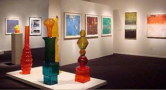 Schick Art Gallery Faculty Exhibition installation 2007