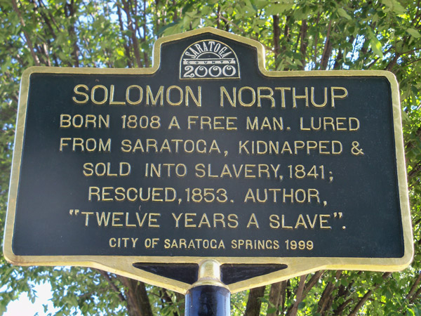Historic sign commemorating Solomon Northup