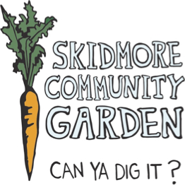 logo featuring a carrot to the left of the text