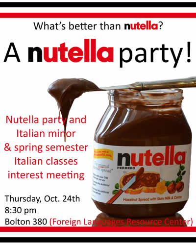 Nutella party poster