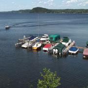boats on Saratoga Lake