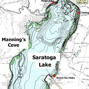 Contour map of Saratoga Lake