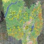 satellite map of Saratoga Lake area