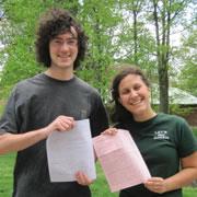 Morgan Violette and Zach Rowen